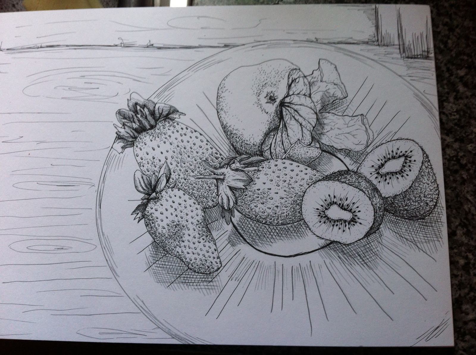 Drawing Using Lines : Oca drawing learning log: still life group using line & tone