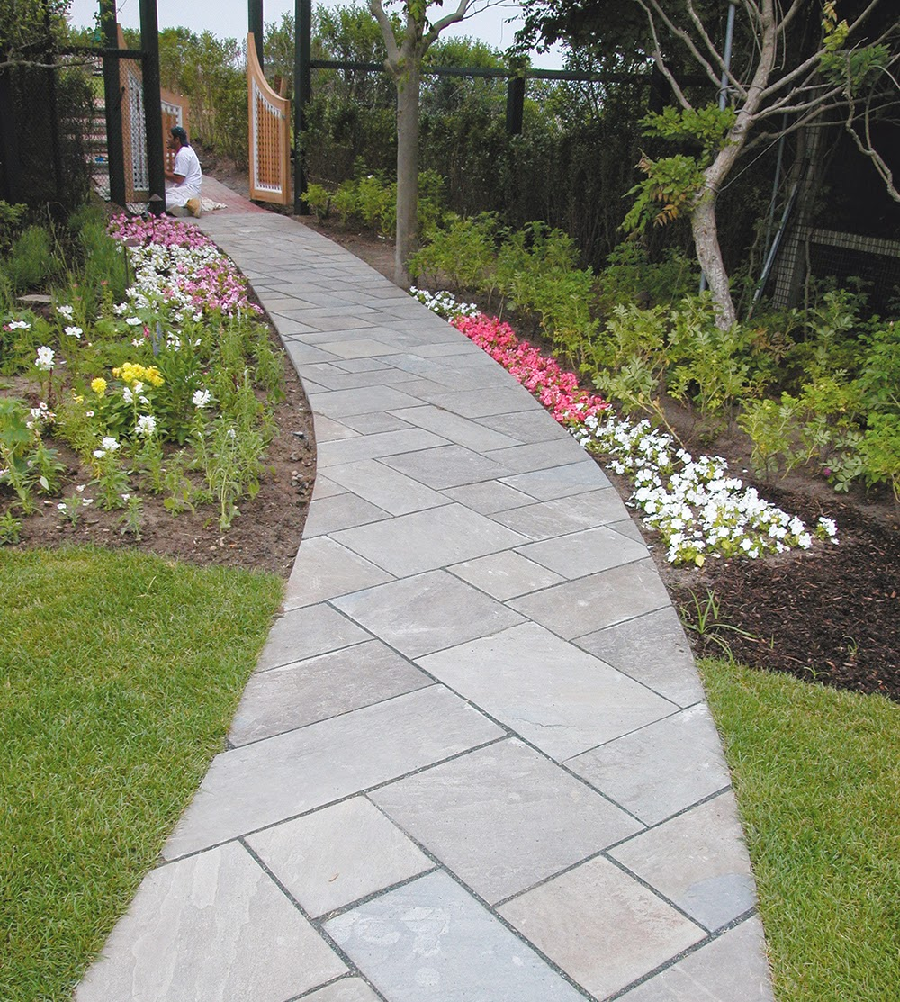 Nice Design paving stone walkway