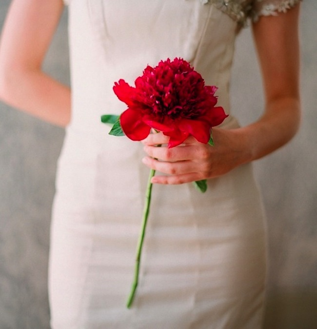 Bridal Bouquet Trend: The Single Stem | The Bridal Collective Blog
