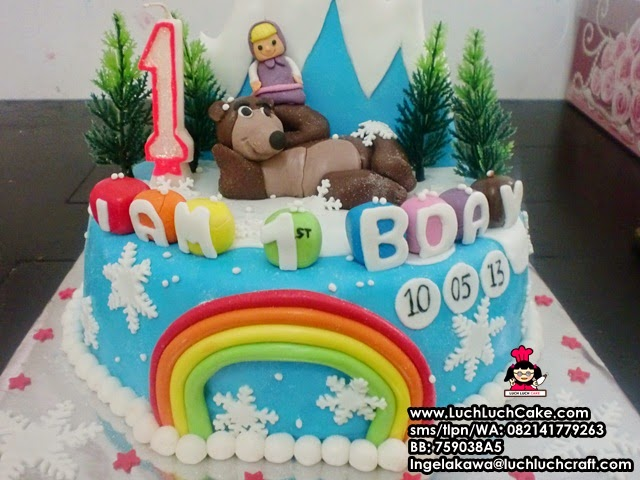 Masha and The bear cake fondant