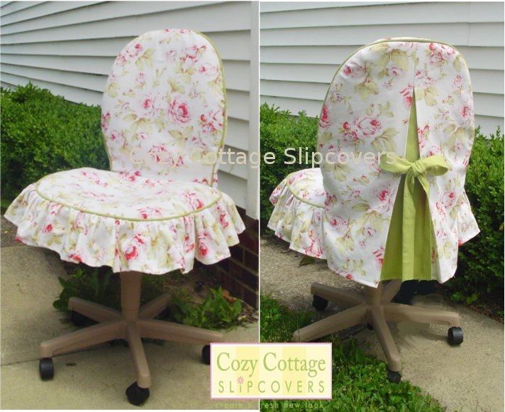 cozy cottage slipcovers office chair slipcovers. Black Bedroom Furniture Sets. Home Design Ideas