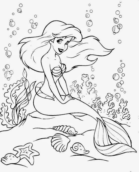 Ariel Little Mermaid coloring.filminspector.com