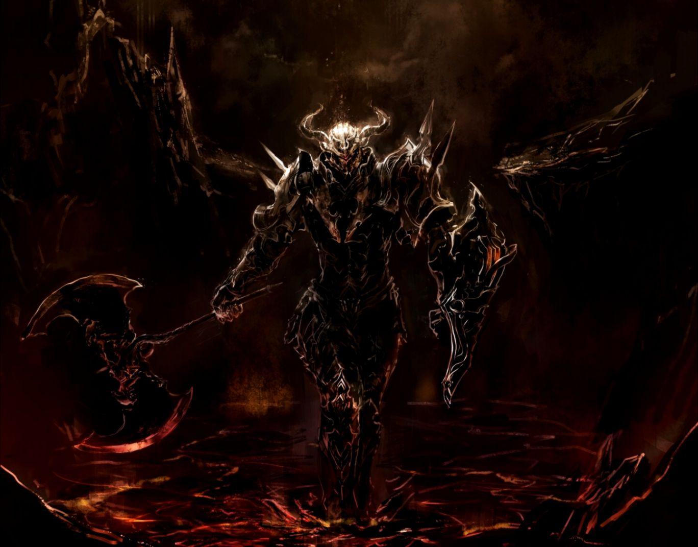 Dreamy Fantasy Lion King Warrior Axes Armor Artwork ...