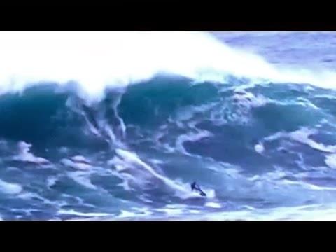 Jetski vs Belharra - Big Wave Surfing - January 7th 2014