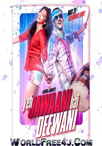 Poster Of Bollywood Movie Yeh Jawaani Hai Deewani (2013) 300MB Compressed Small Size Pc Movie Free Download worldfree4u.com