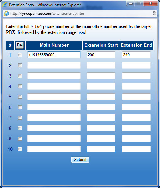 how to add extension when dialing number