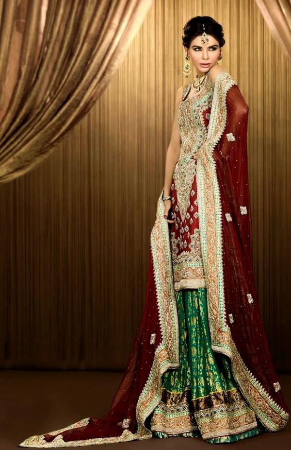 Mehndi Bridal Collection : Mehndi bridal dresses collection