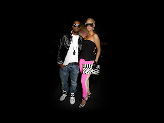Kanye and Amber Rose HD Wallpaper