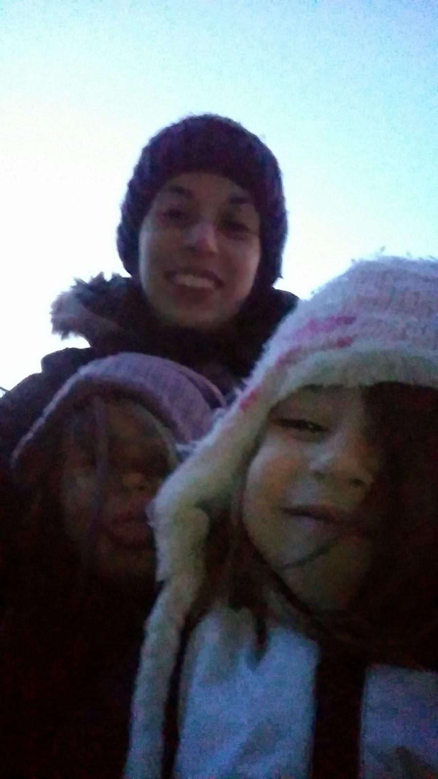 sledge selfie