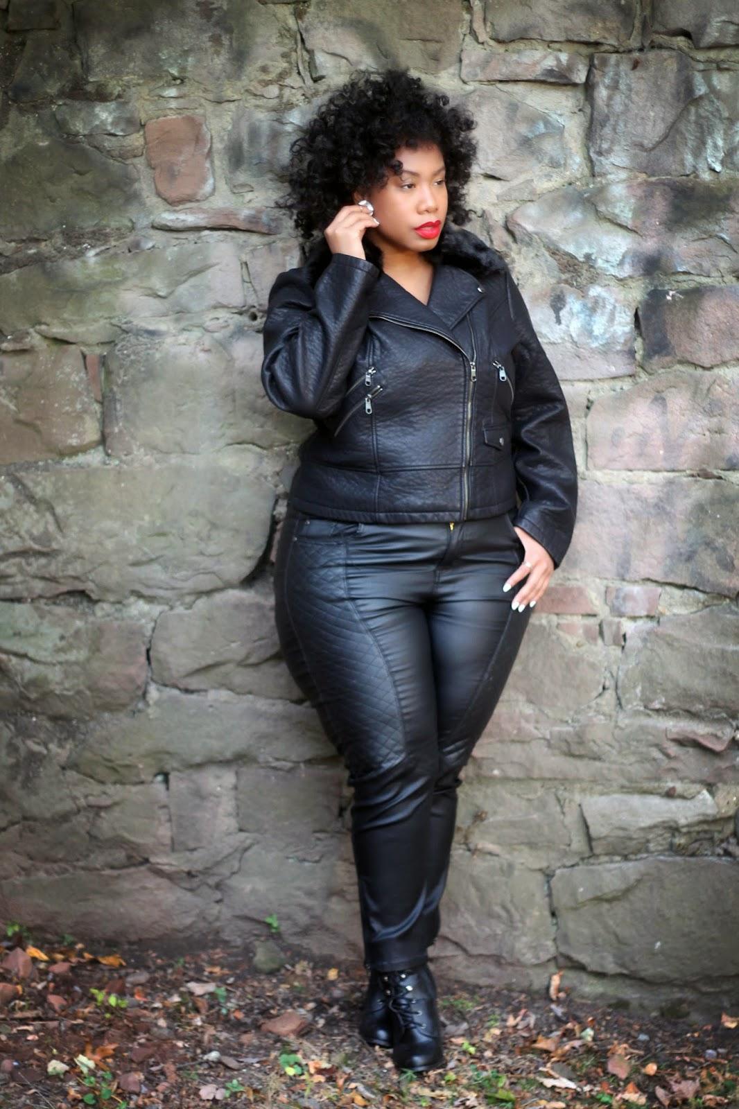 Plus Size Leather