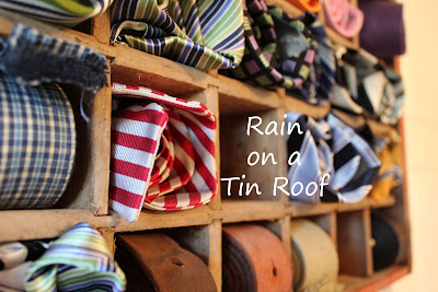 Coke Crate Tie Storage {rainonatinroof.com} #coke #crate #tie #storage #organize
