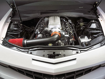 Engine of Chevrolet Copo Camaro