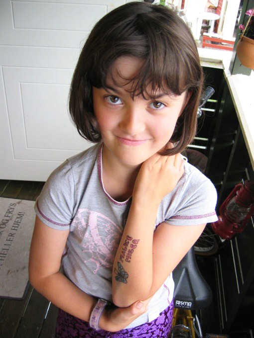Cute little girls tattoos fashion design 2012 for Little kid tattoos