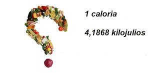 Equivalencia entre calorías y kilojulios