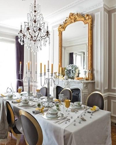 furniture store review: Christmas Decor in Paris Apartment