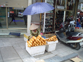 Outdoor market in Vietnam