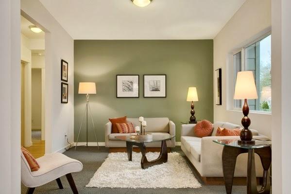 Rafra chissants salons avec des accents verts d coration salon d cor de s - Combien de couleur dans un salon ...