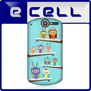 HEAD CASE WINTER OWL XMAS DESIGN PROTECTIVE BACK CASE FOR HUAWEI IDEOS X5 U8800
