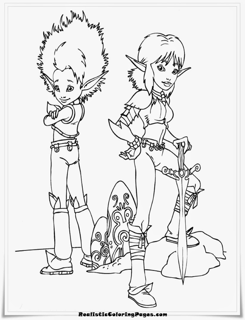 Arthur And The Minimoys Coloring Pages