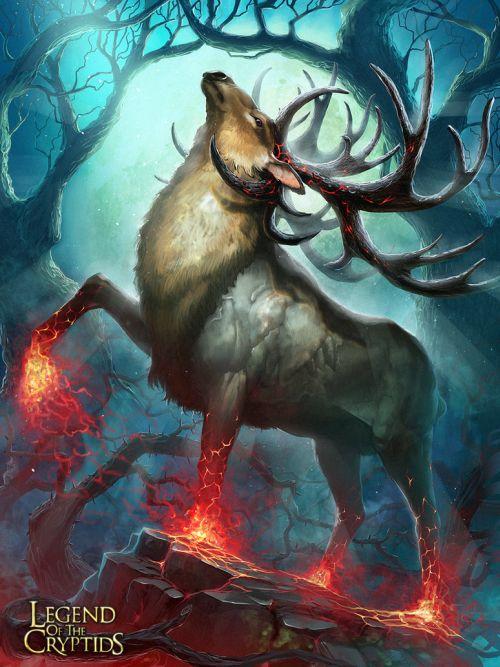 Pavel Romanov cynic-pavel deviantart ilustrações fantasia Cervos fantásticos