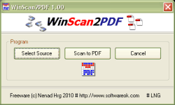 Direct PDF converter for Scanned Documents