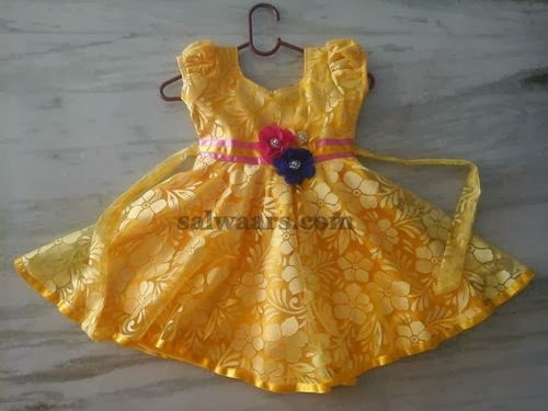 Brasso Yellow Kids Frock