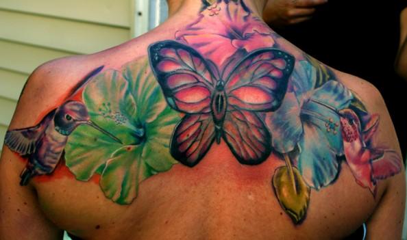 Shoulder Flower Tattoos