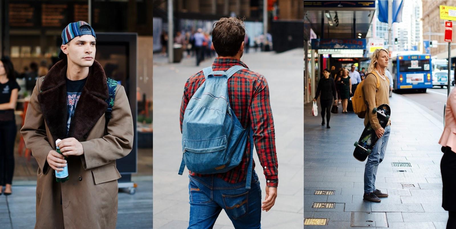 mochilas en looks de street style