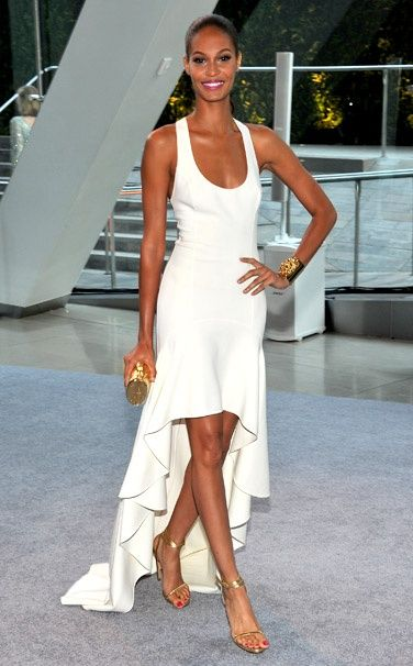 7 dias sete look de Joan Smalls modelo porto-riquenha da Estée Lauder cosmetics