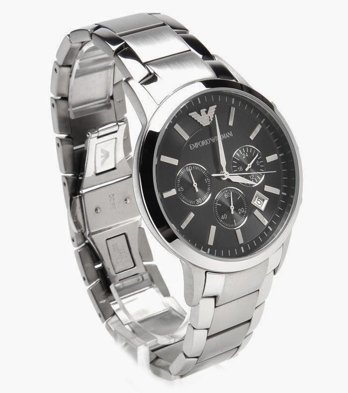emporio armani ar2434 classic chronograph mens watch. Black Bedroom Furniture Sets. Home Design Ideas