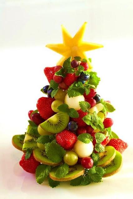 árvore de natal fruta