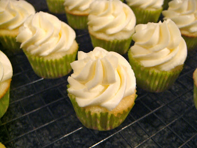 Mini margarita cupcakes