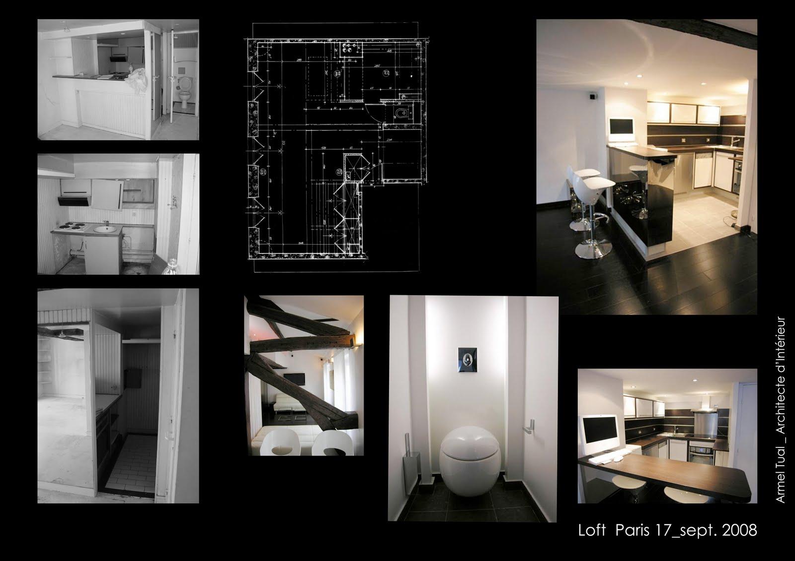 armel tual architecte d 39 int rieur cfai loft de 72m2. Black Bedroom Furniture Sets. Home Design Ideas