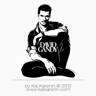 David Gandy by Kai Karenin, vector illustration