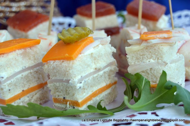 canaps fros de queso y pavo con mousse de trufa sugerencia de presentacin