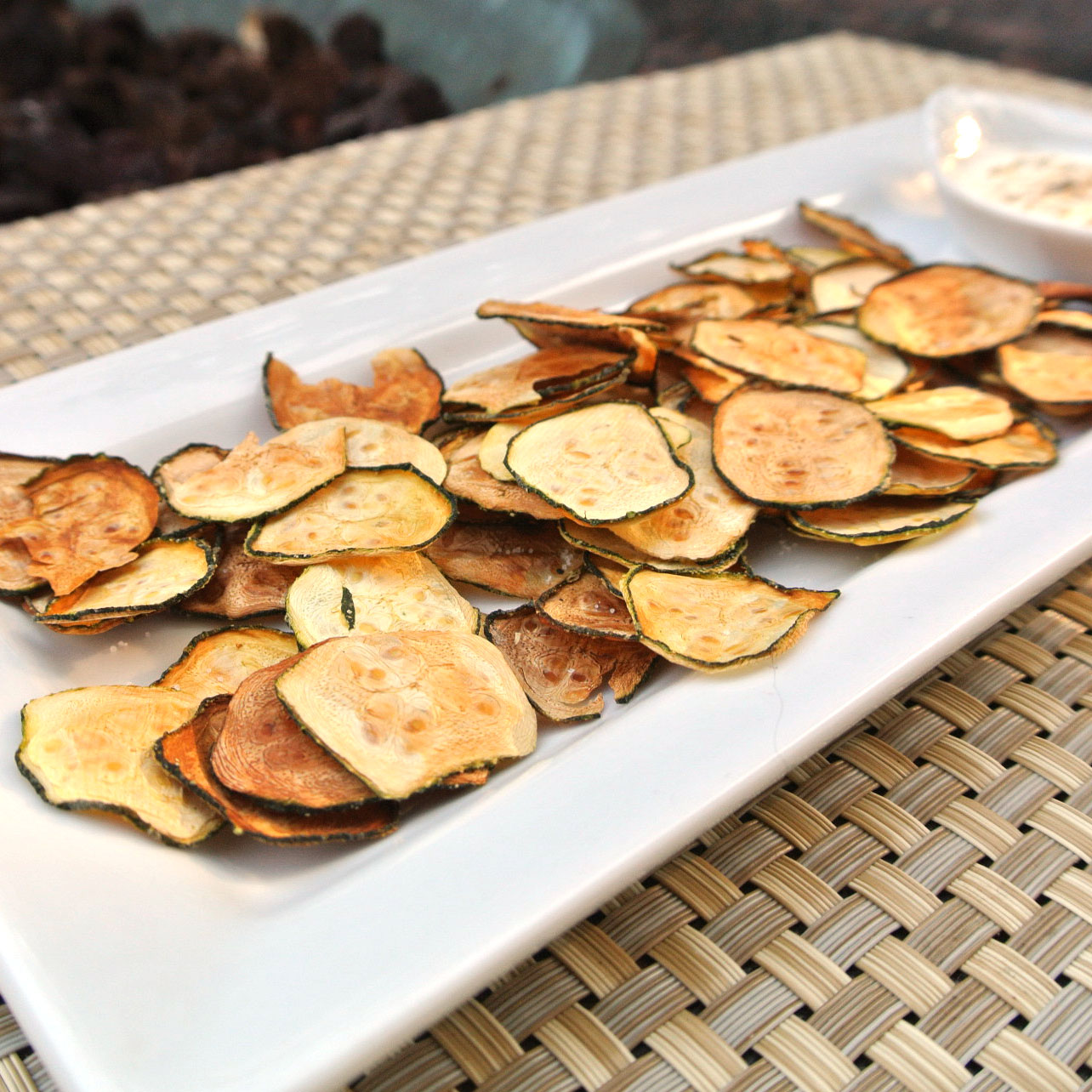 Zero Calorie Life: Baked Zucchini Chips