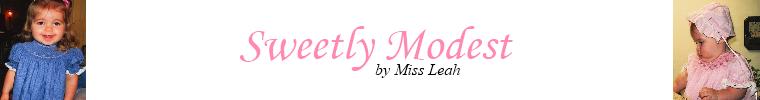 Sweetly Modest Blog