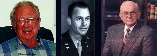 Walter Haut, Col. Thomas Dubose, Lt. Robert Shirkey (Ret)