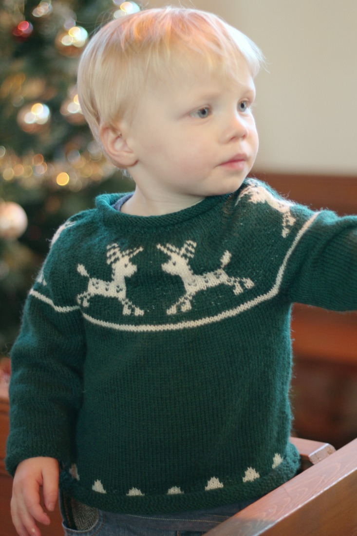 Just Call Me Ruby: Junior Christmas Jumper pattern available now