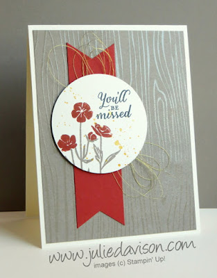 Stampin' Up! Wild About Flowers Card for Global Design Project #GDP008 #stampinup www.juliedavison.com