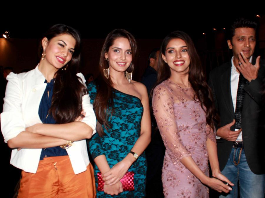 jacqueline fernandez, Shazahn Padamsee, Asin in shorts - Housefull 2 Movie Team At Audi TT Launch