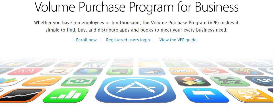 apple appstore VPP for business
