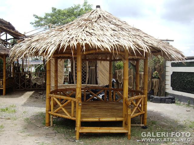 Gazebo Bambu Segi Enam, Made in Klaten