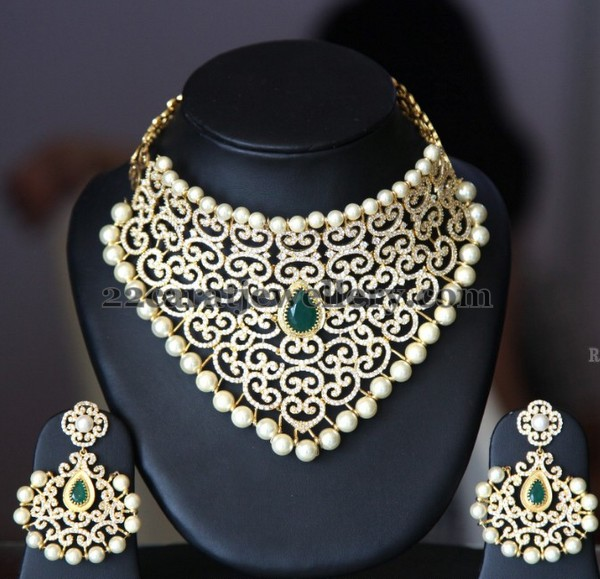 Huge Necklace Chandbalis in Gold Plated
