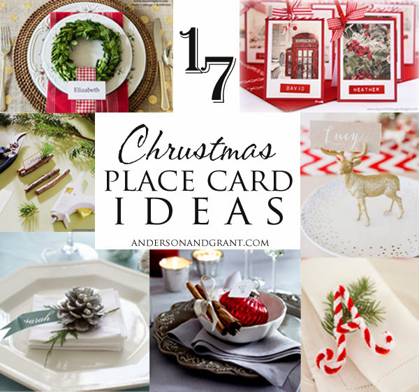 Ideas for your christmas place cards anderson grant