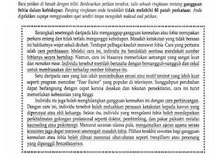 PETIKAN 2 (GANGGUAN FOBIA DALAM KEHIDUPAN)