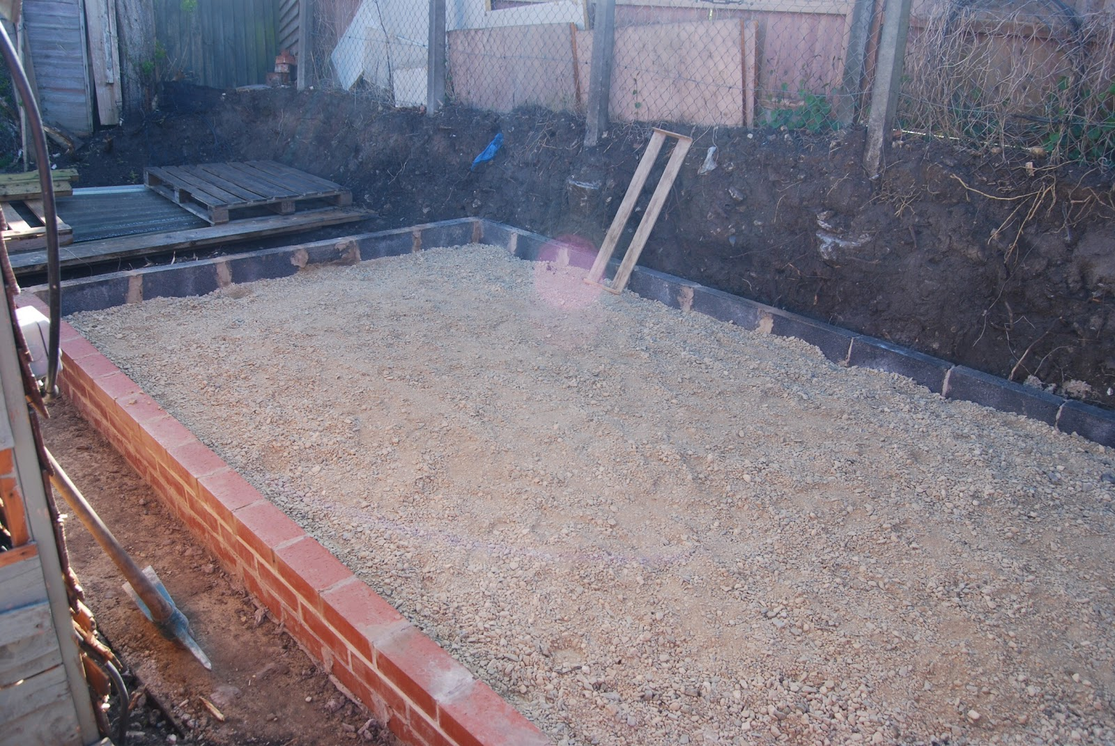 New block shed self build part 3 floor block laying for Concrete block floor