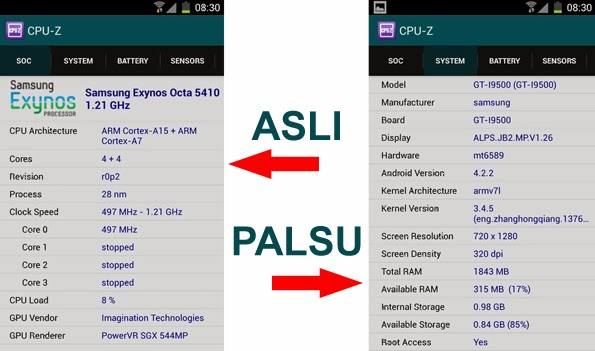 Jalankan aplikasi CPU-Z dan lihatlah detail hasil deteksinya terhadap ...