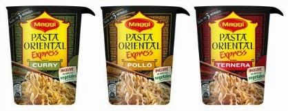 La pasta oriental express de Maggi