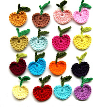 DIY crochet apples